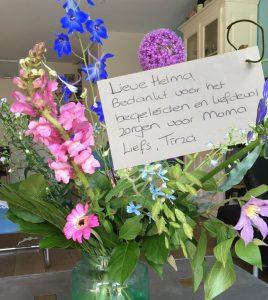 Bloemen als dankje